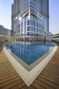 The swimming pool at or near Armani Hotel Dubai