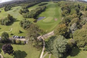 A bird's-eye view of Owston Hall Hotel