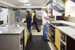 A kitchen or kitchenette at HI NYC Hostel