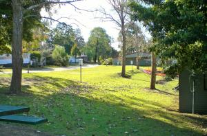 A garden outside Mallacoota's Shady Gully Caravan Park