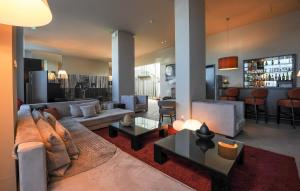 The lounge or bar area at Le Grand Hotel