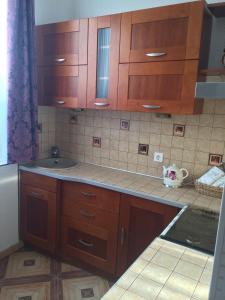 Кухня или мини-кухня в Apartment on Krasnaya