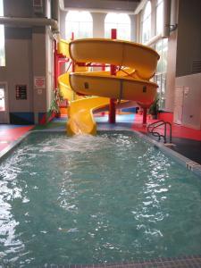 The swimming pool at or near Super 8 by Wyndham Castlegar BC