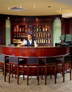 The lounge or bar area at Hotel Dilijan Resort