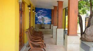 The lobby or reception area at Inlak Garden Hotel