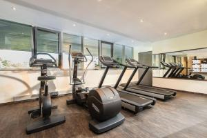 The fitness center and/or fitness facilities at Wyndham Grand Salzburg Conference Centre
