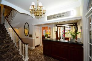 The lobby or reception area at The Crescent Hotel
