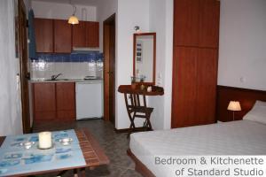 A kitchen or kitchenette at Eye Q Resort