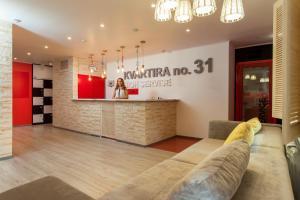 The lobby or reception area at Hostel Kvartira 31