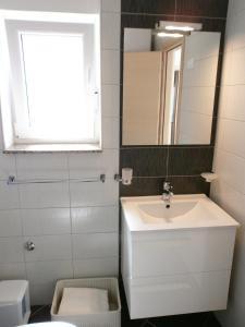 A bathroom at Apartments Bora