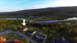 A bird's-eye view of Sälens By