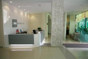 The lobby or reception area at Hotel Blue Sky