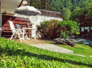 A garden outside Argentiere Studio