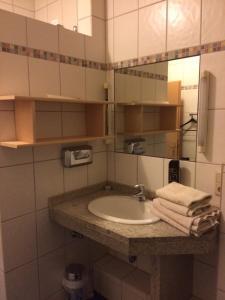 Ein Badezimmer in der Unterkunft Hotel Am Salzberg