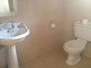 A bathroom at St. Jude's B&B