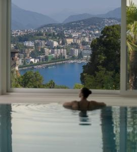 Der Swimmingpool an oder in der Nähe von The View Lugano