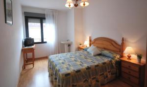 Cama o camas de una habitación en Pension Paseo Real