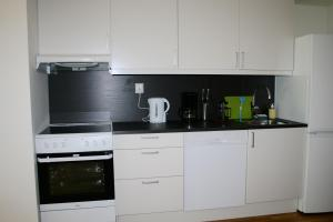 A kitchen or kitchenette at Oslo Centrum Apartments