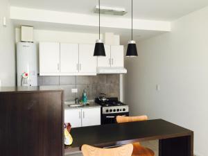 Una cocina o kitchenette en Apart Hotel Cañuelas