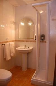 A bathroom at Hotel Don Juan