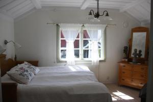 Säng eller sängar i ett rum på Siljansbackens Gård - Mellangården