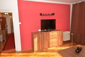 TV a/nebo společenská místnost v ubytování Sole Mio Apartment