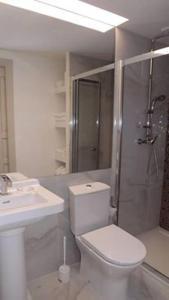 A bathroom at Casa Rural Santa Teresinha