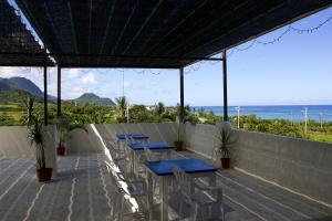 藍色珊瑚礁陽台或露臺