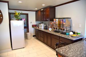 A kitchen or kitchenette at Purple Sage Motel