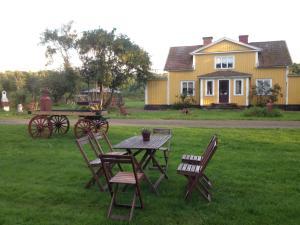 En trädgård utanför Marielund Gård