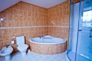 A bathroom at Apartmány Vidim