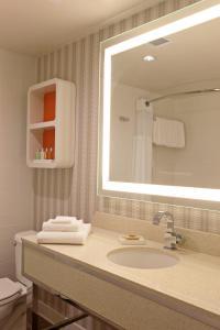 A bathroom at The Garland