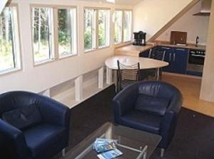 Ein Sitzbereich in der Unterkunft Haus Fernsicht