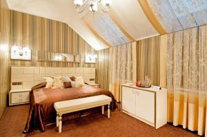 Кровать или кровати в номере Отель Пегас