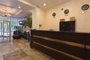 The lobby or reception area at Hotel Moskvich