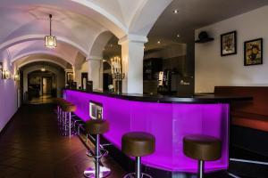 Lounge oder Bar in der Unterkunft Landhotel Hallnberg