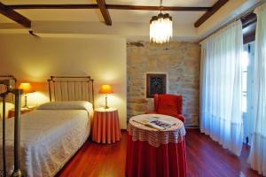 Cama o camas de una habitación en Casa Grande De Trives