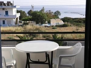 A balcony or terrace at Flisvos Apartments