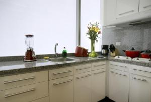 A kitchen or kitchenette at Hausuites