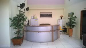 The lobby or reception area at Hotel Mandari