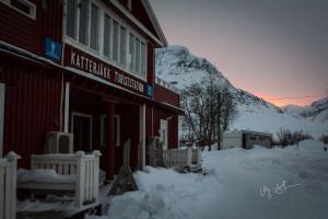Katterjokk Turiststation under vintern