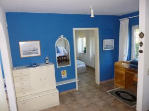 Küche/Küchenzeile in der Unterkunft Ferienhaus am Wald, Wohnung 2