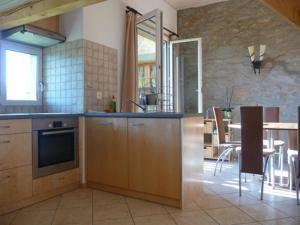 Küche/Küchenzeile in der Unterkunft Studio de Vacances Philipona