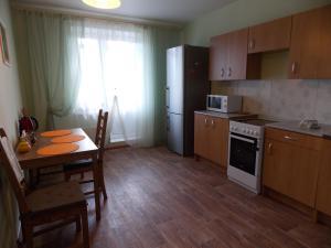 A kitchen or kitchenette at Apartment Na Respublikanskoy