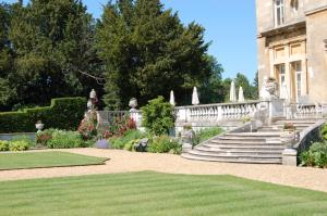 A garden outside Luton Hoo Hotel, Golf and Spa