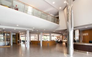The lobby or reception area at Hilton Garden Inn Málaga