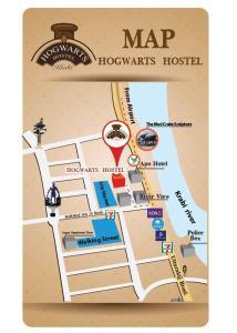 Planlösningen för Hogwortz hostel Krabi