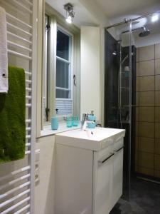 Ein Badezimmer in der Unterkunft Torhaus