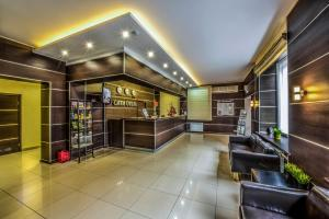 The lobby or reception area at City Hotel Novosibirsk
