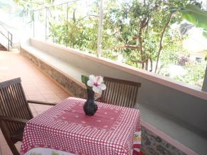 A balcony or terrace at Louros House